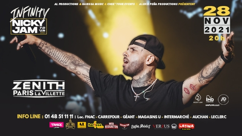 Concert : Nicky Jam au Zénith Paris