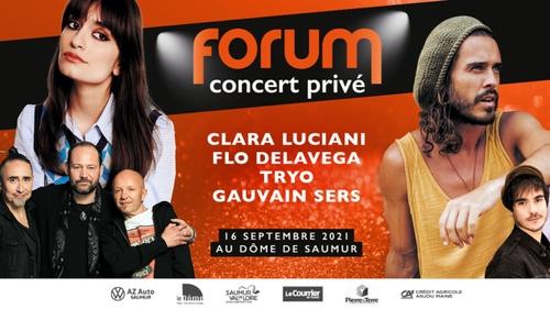 Gagnez vos places pour le nouveau concert privé Forum à Saumur
