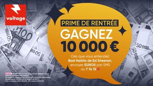 Prime de rentrée : gagnez 10 000 euros cash facilement avec Voltage
