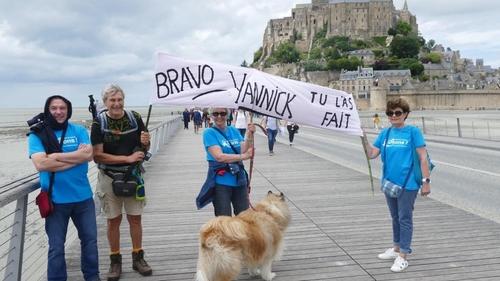 Yannick Sourisseau a réussi sa marche contre le cancer masculin