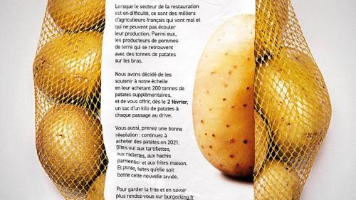 Burger King offre un kilo de pommes de terre à chaque client