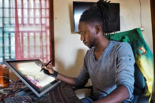 Au Cameroun, le numérique élargit l'horizon des artistes au monde...