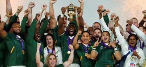 """Rugby: les """"héros"""" Springboks de retour dans une Afrique du Sud en..."""