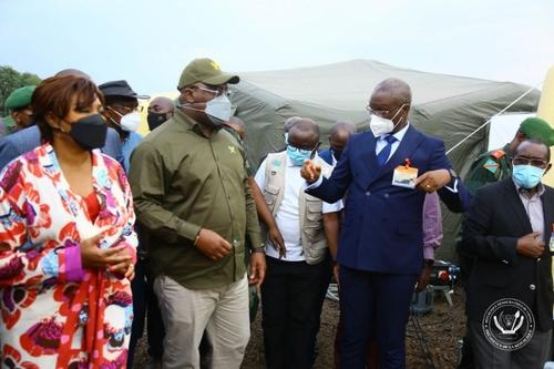 RDC : Le président FélixTshisekedi au chevet des déplacés de Goma