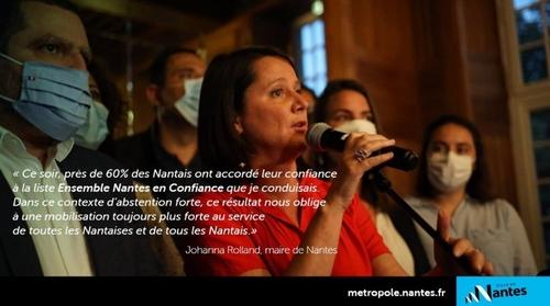 Johanna Rolland réélue à la mairie de Nantes