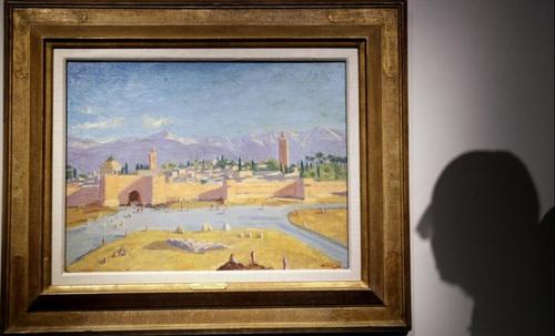 Un tableau de Churchill peint à Marrakech mis en vente par Angelina...