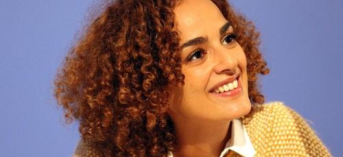 La romancière franco-marocaine Leïla Slimani reçue à l'Elysée