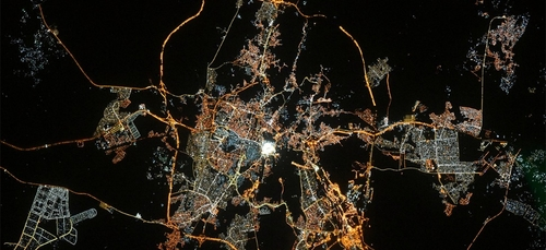 La Mecque photographiée depuis l'espace le jour de l'Aïd !