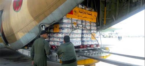 Le Maroc envoie une aide humanitaire à Gaza et en Cisjordanie