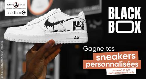 Punchline BlackBox : gagne tes sneakers personnalisées