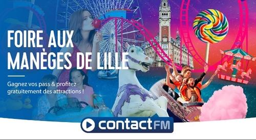 GAGNEZ VOS PASS POUR LA FOIRE AUX MANÈGES DE LILLE AVEC CONTACT FM