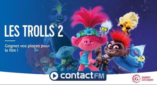 """GAGNEZ VOS PLACES DE CINÉMA POUR LE FILM """"LES TROLLS 2 - LA TOURNÉE..."""