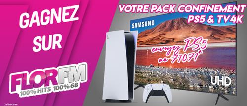 Gagnez votre pack confinement : PS5 & TV 4K