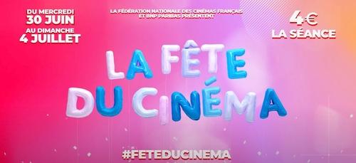 La fête du cinéma débute ce mercredi : 4€ la place !