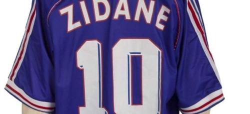 France-Brésil 98 : un maillot de Zidane vendu 100 000 dollars