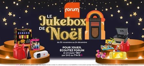 Jouez au Jukebox de Noël Forum et gagnez de magnifiques cadeaux !