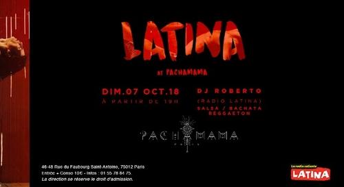 A GAGNER : Vos entrées pour les dimanches latinos au Pachamama