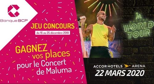 Gagnez vos places pour le concert de Maluma grà¢ce à Banque BCP !