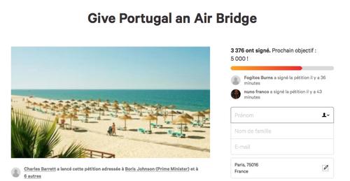 Donnez au Portugal un pont aérien avec le Royaume-Uni !
