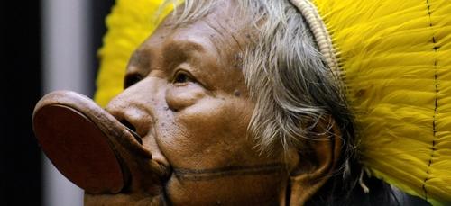 """Amazonie : Raoni porte plainte pour """"crime contre l'humanité""""..."""
