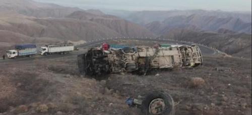 Pérou: un accident d'autocar fait près de 30 morts