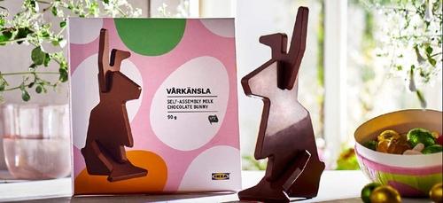 La bonne nouvelle du jour :  Un lapin en Chocolat à monter soi même...