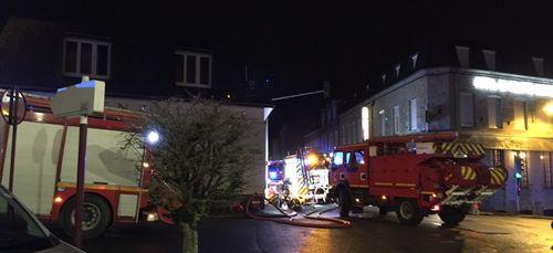 Incendie en plein centre ville de Vire Normandie