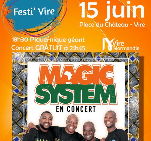 FestiVire 2019 : Magic System à Vire Normandie le 15 juin