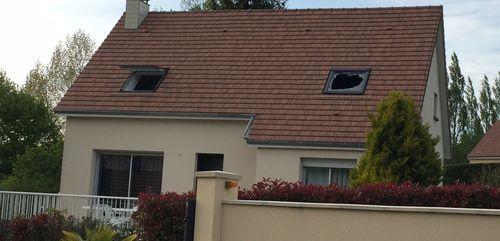 Un feu de maison à Roullours