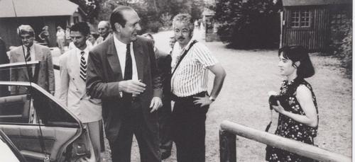 Jacques Chirac était venu à la Souleuvre et à Vire !