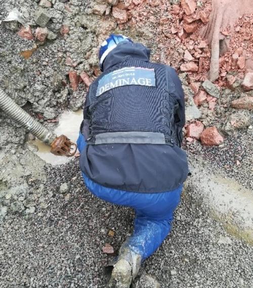 Fin de l'opération débombage à Vire