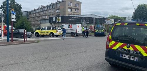 un piéton renversé par une voiture en centre-ville de Vire