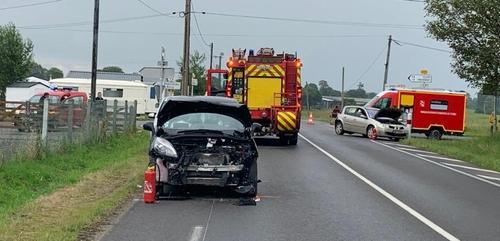 Spectaculaire accident près de Vire