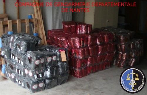 Ce matin, à Saint-Herblain, les gendarmes ont saisi une tonne... de...