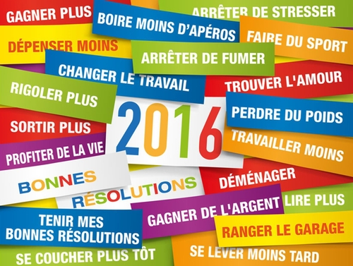 Quelles sont vos bonnes résolutions pour 2016 ?