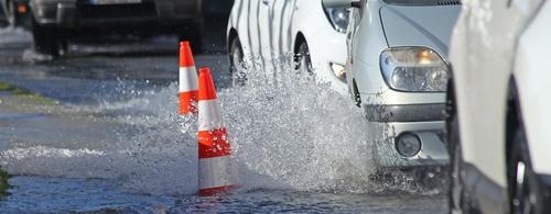 Routes inondées dans les Ardennes