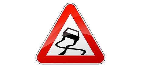 Prudence au verglas sur la route !