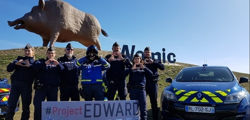 """Les gendarmes Ardennais relaient le projet """"EDWARD"""""""