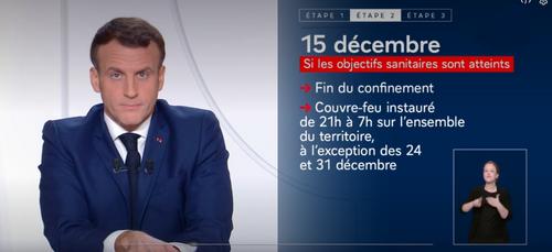 Emmanuel Macron annonce un allègement du confinement en trois étapes