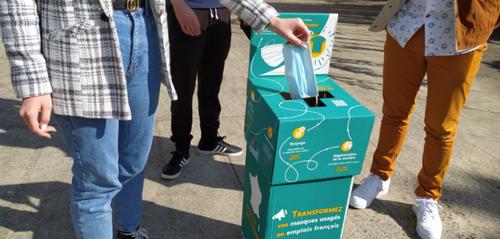 Zoom sur un projet de recyclage de masques