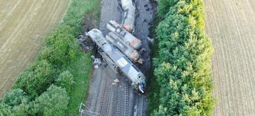 Déraillement d'un train près de Rumigny