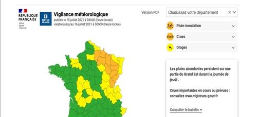 Les Ardennes en vigilance orange crues