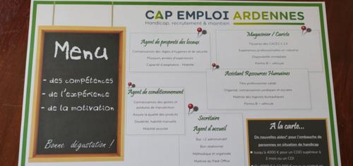 Ardennes : Cap Emploi imprime des CV sur des sets de table de...