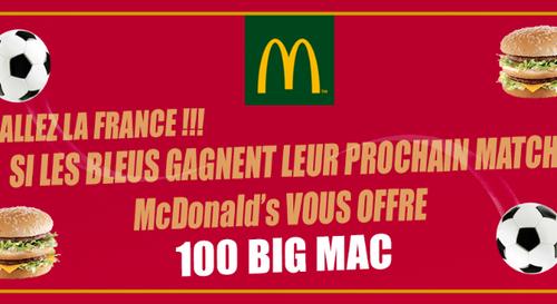 100 Big Mac à gagner chez McDonald's