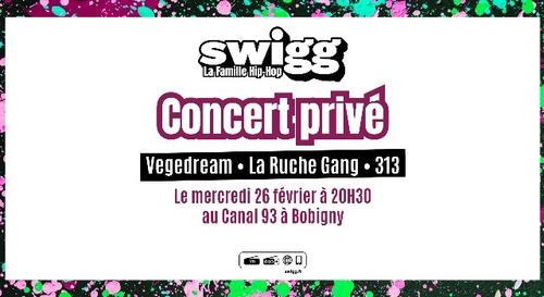 Gagne tes places pour le nouveau concert privé SWIGG !