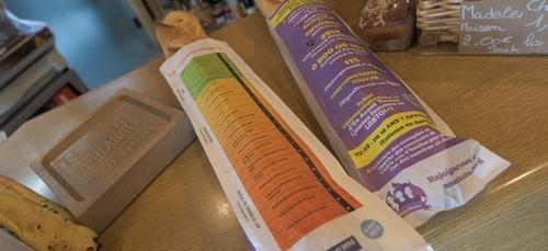 Toulouse. Lancement d'une distribution de sacs à pain pour...