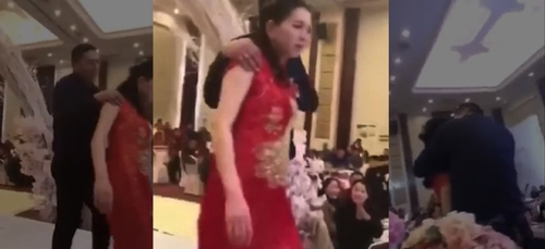 Chine : le père du marié embrasse sa belle-fille de force ! [VIDEO]
