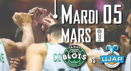 Gagnez vos places pour ADA Blois - UJAP Basket Quimper