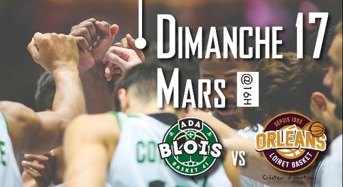 Gagnez vos places pour ADA Blois - Orléans Loiret Basket