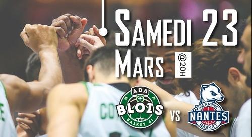 Gagnez vos places pour ADA Blois - Nantes Basket Hermine